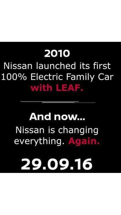 Nissan Releases Paris Reveal Teaser With Connection To LEAF