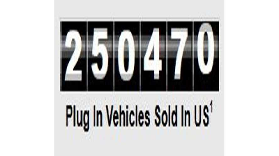 Plug-In Electric Vehicle Sales Charge Past 250,000 In U.S.