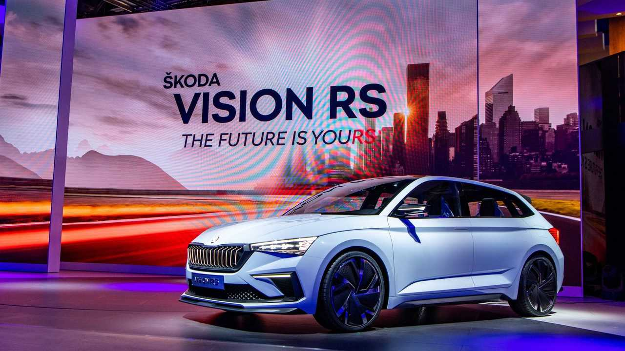 Skoda Vision RS Plug-In Hybrid Hot Hatch Powers Into Paris