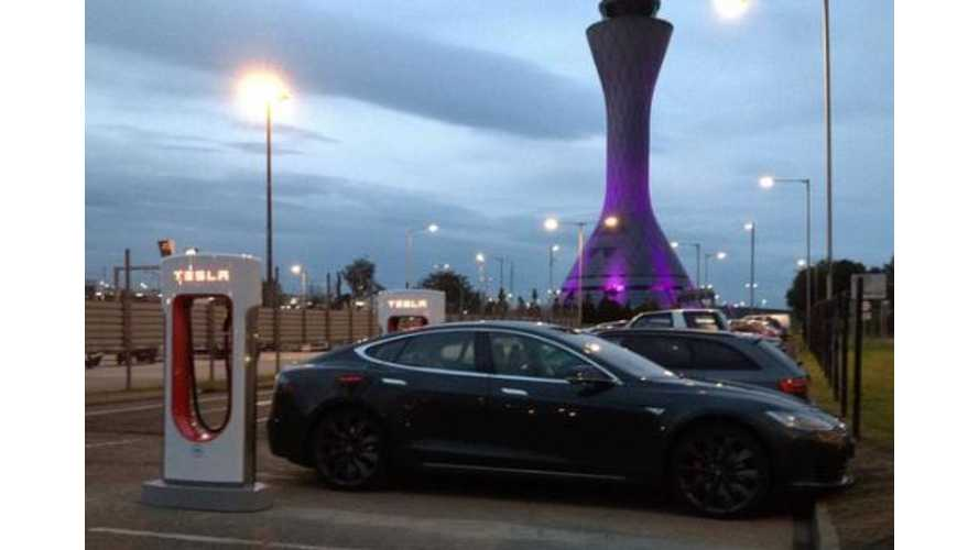 Scotland Gets Its First Tesla Supercharger