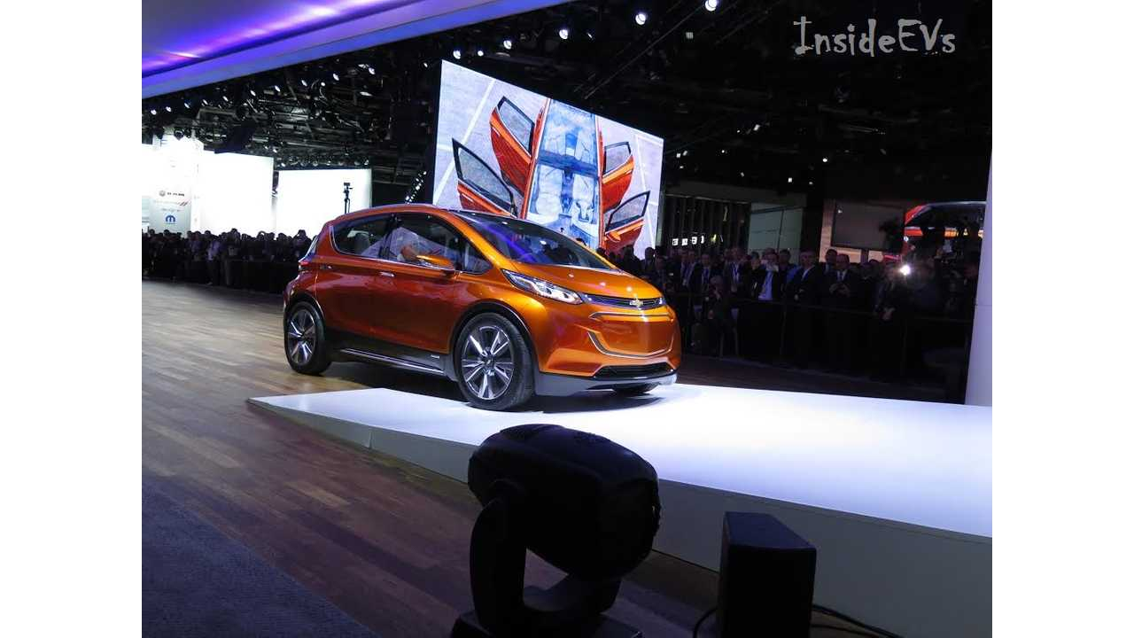 Chevrolet Bolt EV concept from NAIAS stage entrance