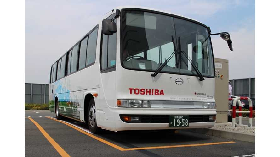 Toshiba To Test Wireless Charging Electric Bus