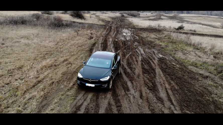Watch This Tesla Model X Do Some Off-Roading: Video