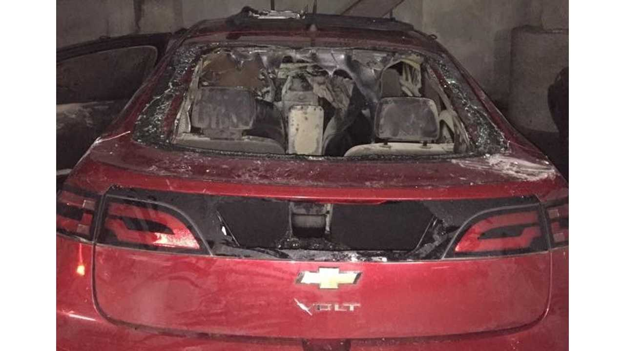UPDATE 2: Chevrolet Volt Consumed By Fire, Burns To A Crisp - Cause Unknown