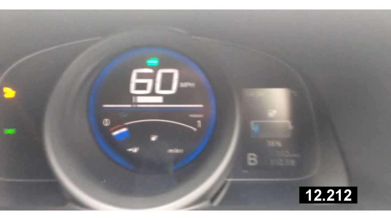 If 0-60 mph in a van was a priority for you, This is how it performed with a low state of charge.