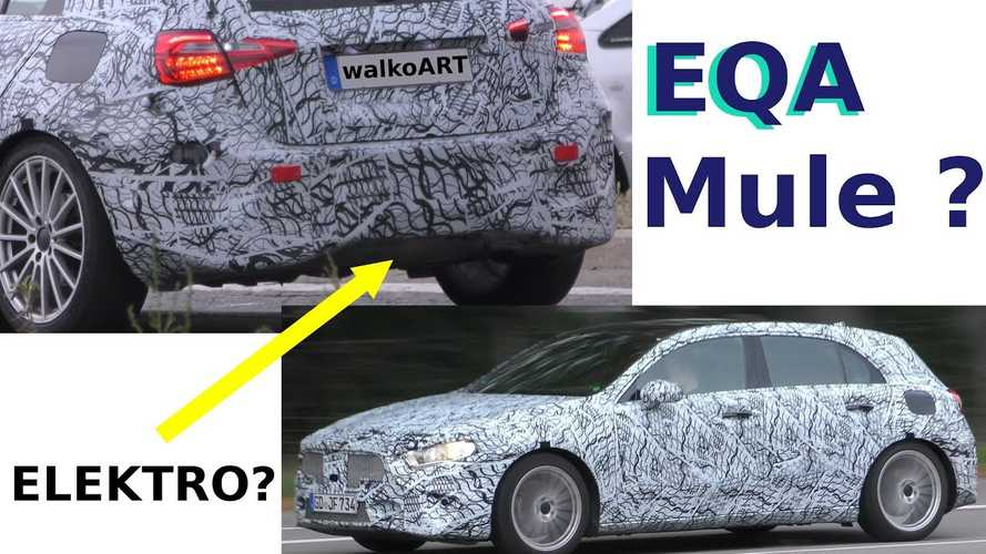 Mercedes-Benz EQA Spied? Lack Of Exhaust Might Be A Giveaway