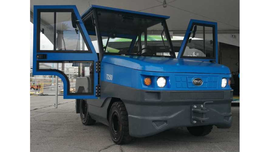 BYD Introduces New Electric Tow Tractor Models