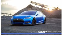 Matte Blue Tesla Model S With ADV.1 Wheels