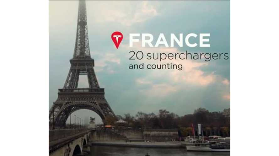 Tesla Model S Owners Rally Across France - Video