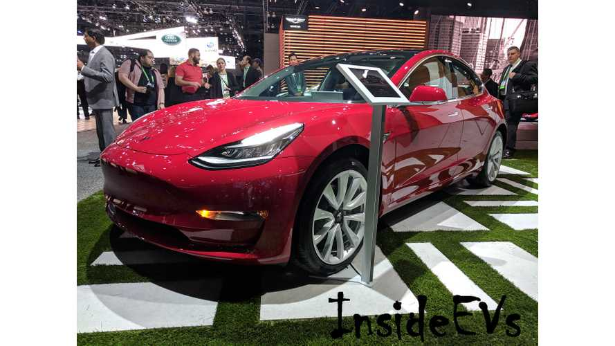 Tesla Model 3 Surprisingly Shows Up At LA Auto Show