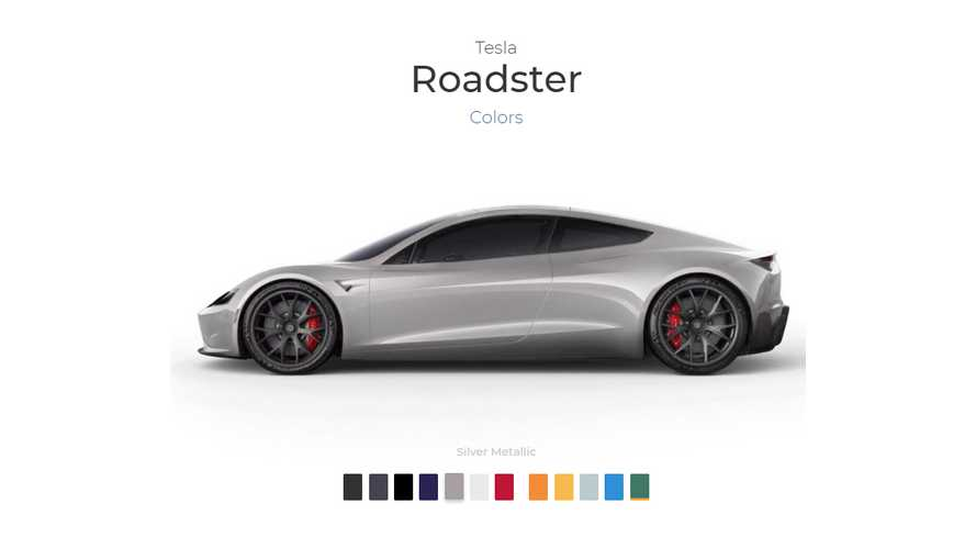 Color Your New Tesla Roadster Here