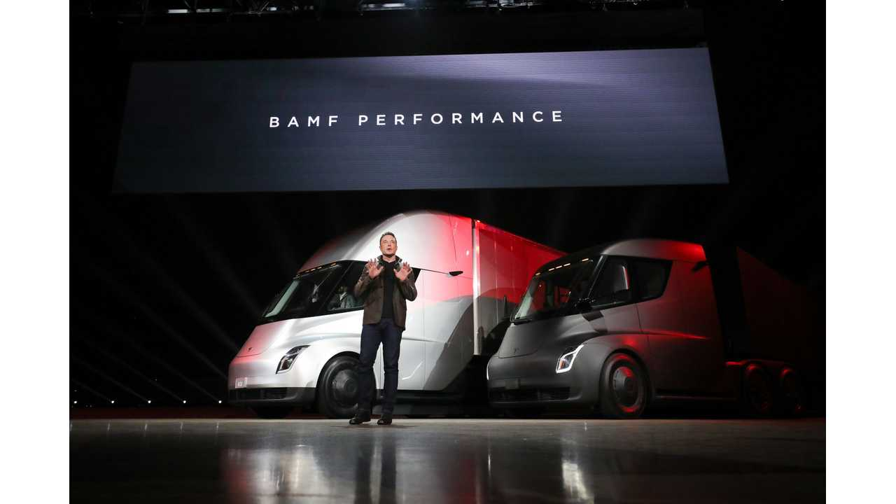 Tesla Semi Priced From $150,000 (300 Mile) & $180,000 (500 Mile)
