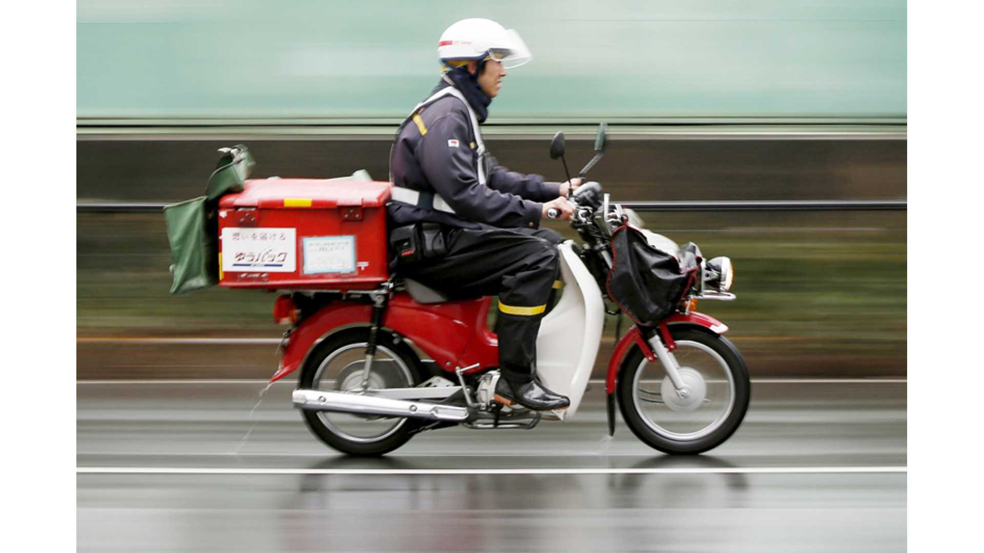 Japan Post Teams With Honda For Electric Motorcycle Postal