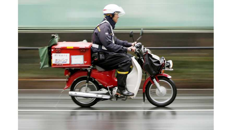 Japan Post Teams With Honda For Electric Motorcycle Postal Deliveries