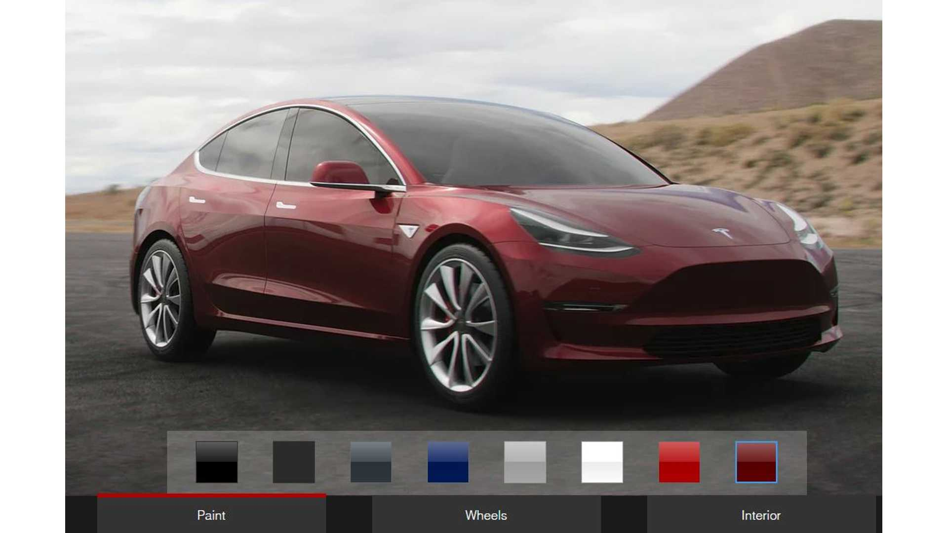 See Wheels On Your Car Before You Buy >> Tesla Model 3 Config Lets You Design Your Car Before
