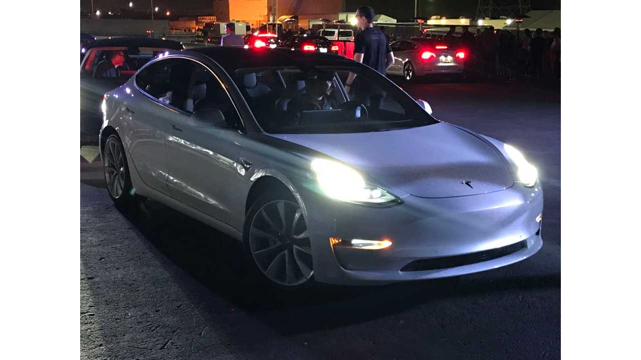 Exclusive Images From Tesla Model 3 Reveal Event