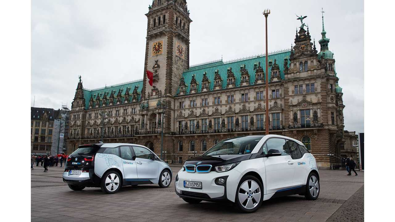 BMW Partners With Hamburg To Expand DriveNow's Car Sharing Plug-In Fleet To 550 Vehicles