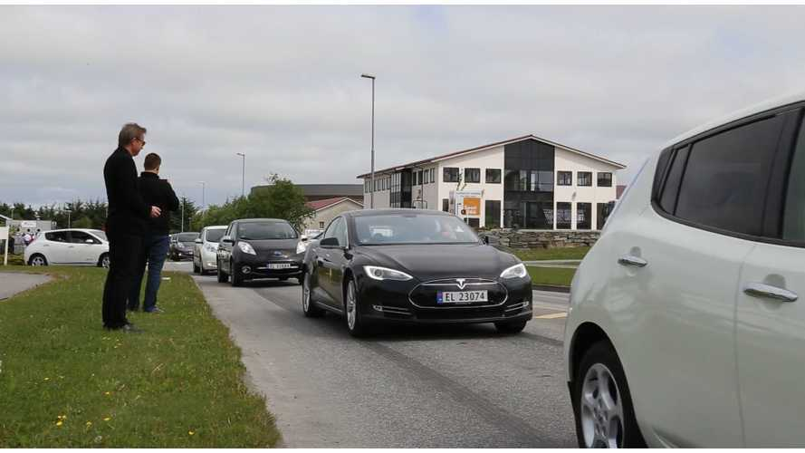 Norway Sets World EV Parade Record - Video