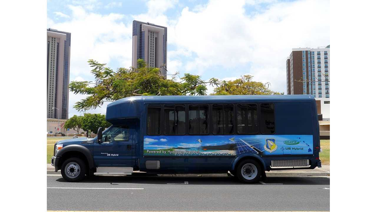 US Hybrid To Deliver H2 Ride Fuel Cell Plug-In Shuttle Bus To Hawaii Mass Transit