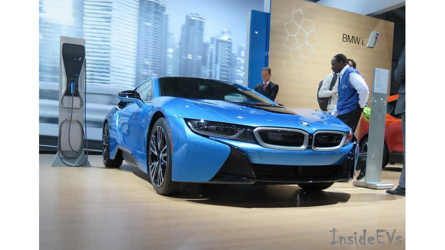 BMW i8 On Stage At New York Auto Show