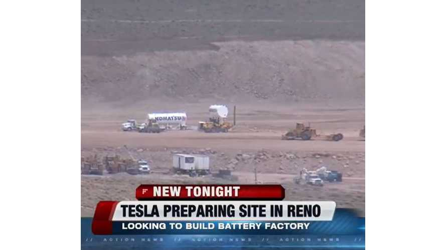 Tesla Preps Gigafactory Site Near Reno - Video