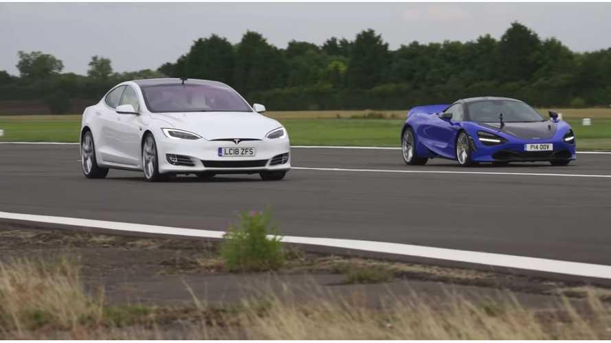 Watch Tesla Model S P100D Race McLaren 720S