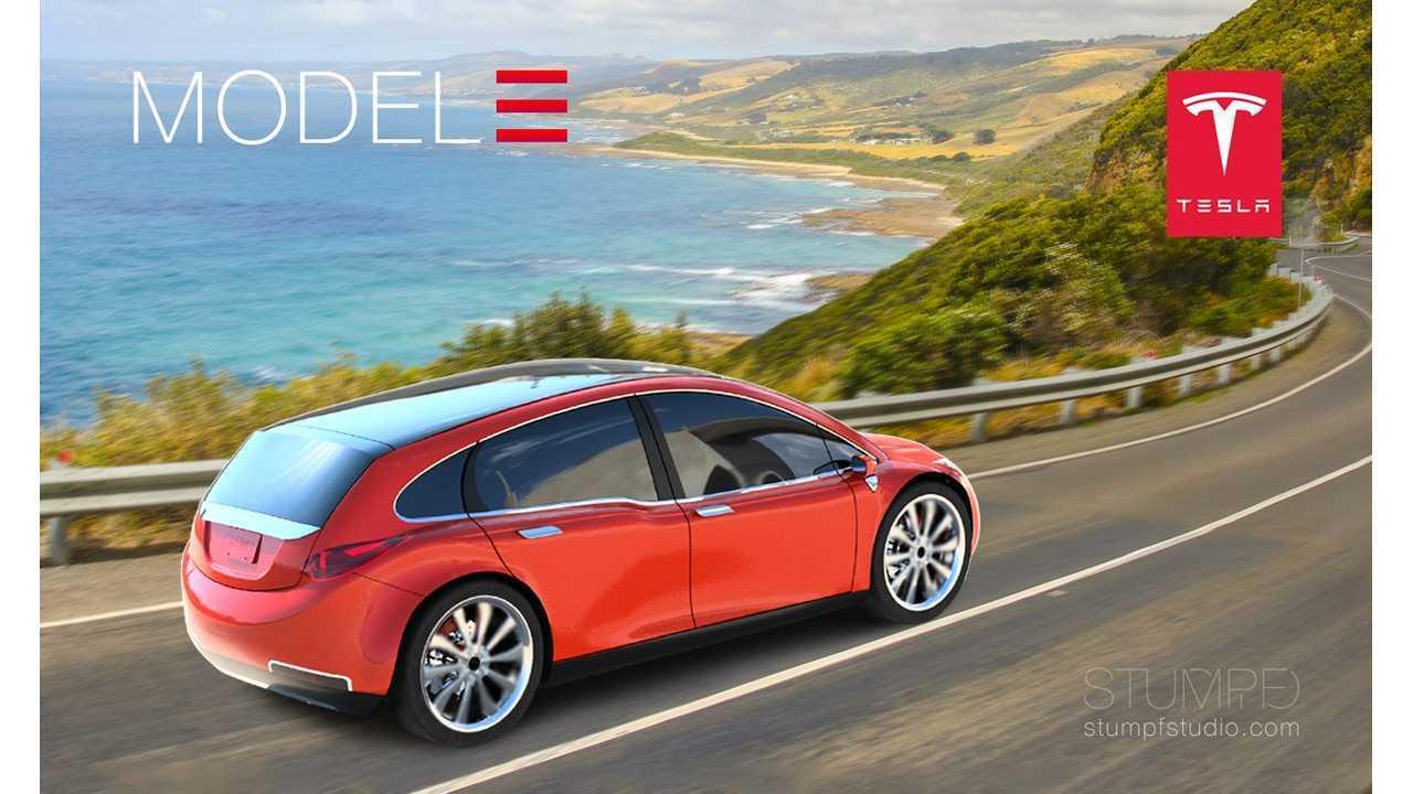 Tesla Model 3 Platform To Also Offer A Crossover (Model 3 render via Stumpf Studio)