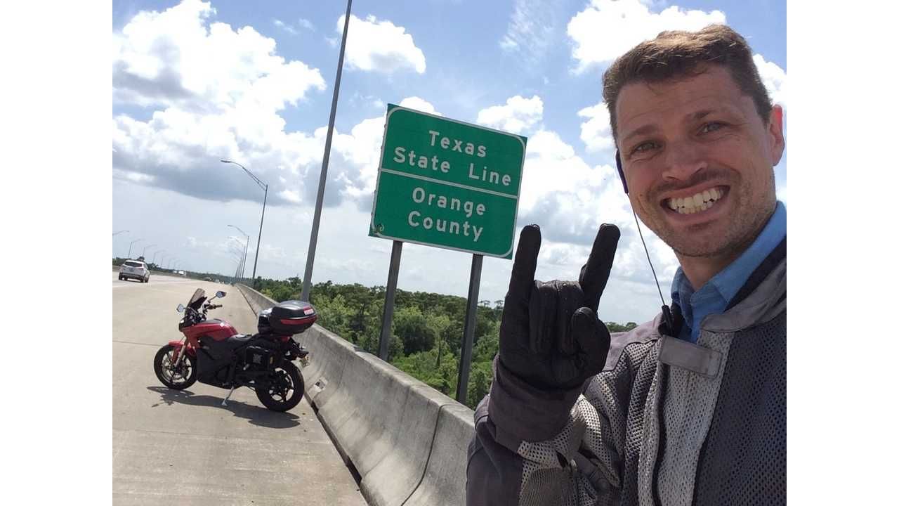 Three Country Tour on an Electric Motorcycle - Houston