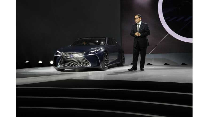 Lexus LF-FC Hydrogen Fuel Cell Car Shown At 2016 NAIAS