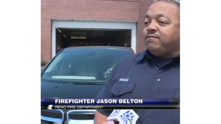 Firefighter Responding To Accident: