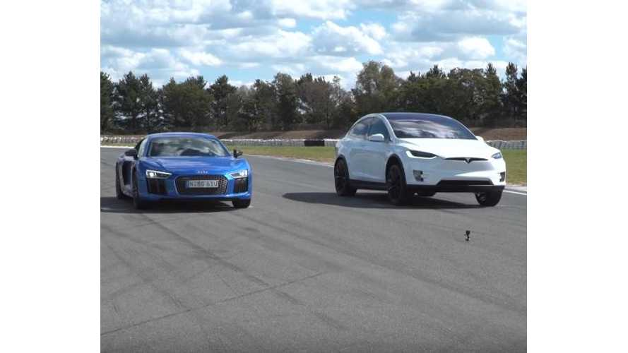 Tesla Model X Versus Audi R8 - Race Video And Model X Review From Australia