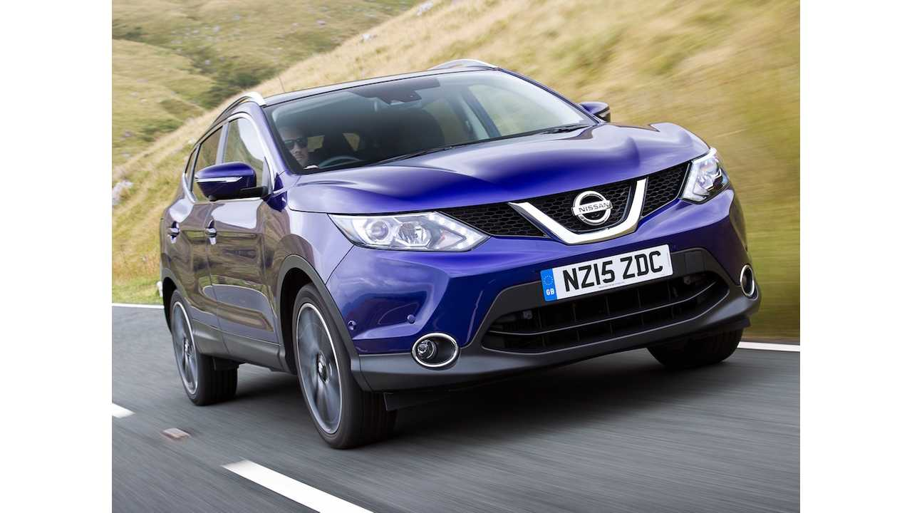 The Nissan Qashqai (shown here in petrol form) seems like a given to have a plug added over the next couple years
