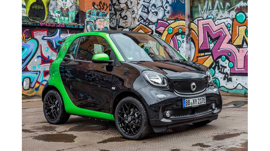 2017 Smart ED Loses 10 Miles Range Compared To Older Model: 58 Miles