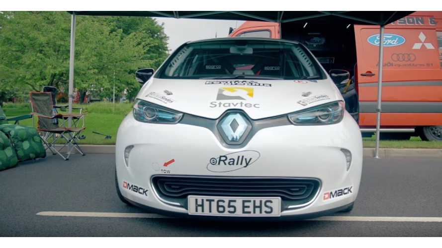 eRally Renault ZOE For Junior Rally Championship Driven - Video