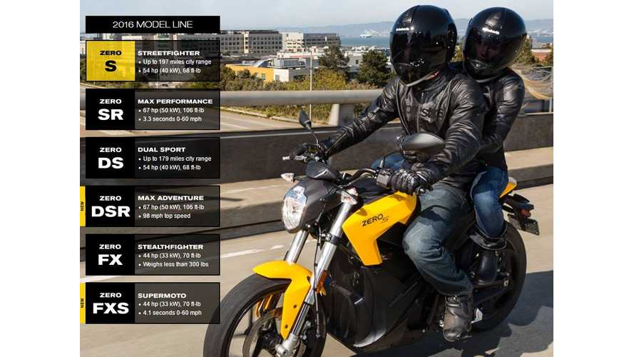 2016 Zero S Electric Motorcycle With City Range Of Up To 197 Miles