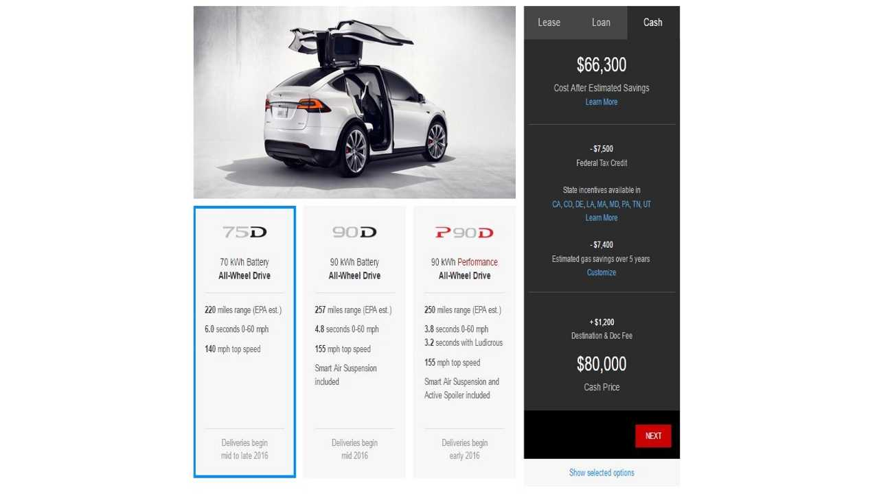 Tesla Model X Configurator Is Live - Build Your Own Today