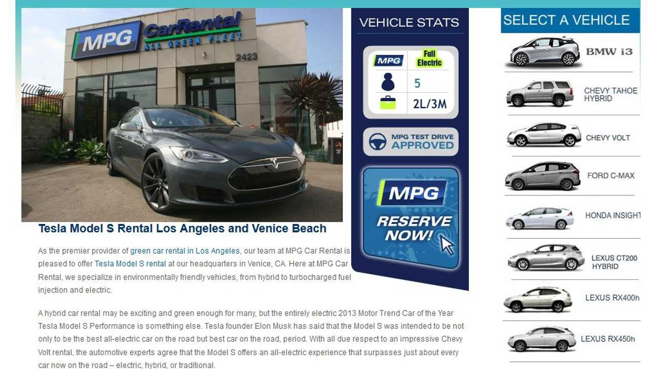 Rent A Tesla Model S For Only $375 Per Day Or BMW i3 For $150