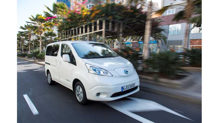 Nissan e-NV200 Orders In Europe Up 128% To 7,000
