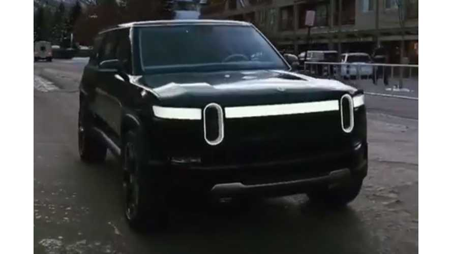 Watch Rivian R1S Electric SUV Roll By At Arm's Length Away: Video