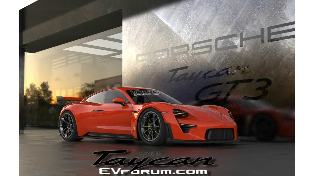 Porsche Taycan GT3 Rendered To Life In Super Sporty Form