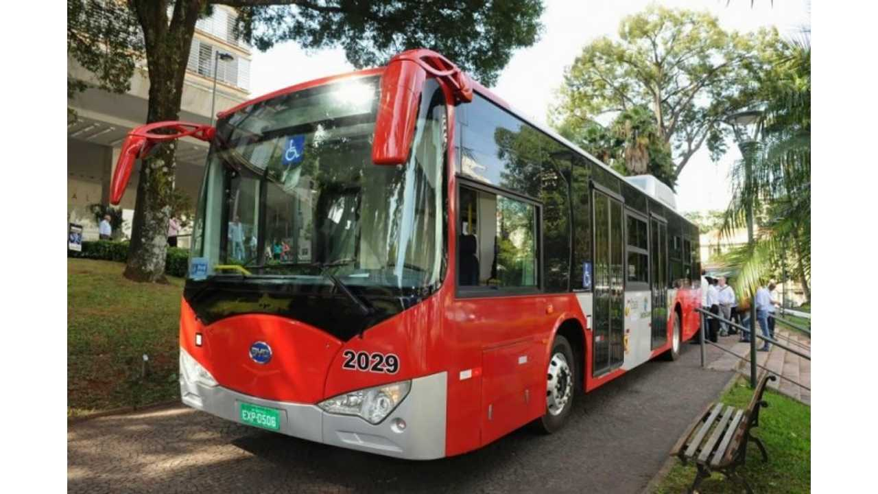 BYD To Deliver 10 Electric Buses To Campinas, Brazil