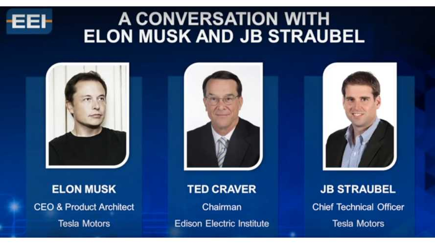 Elon Musk & J.B. Straubel Discuss Electric Cars At Edison Electric Institute Event - Video