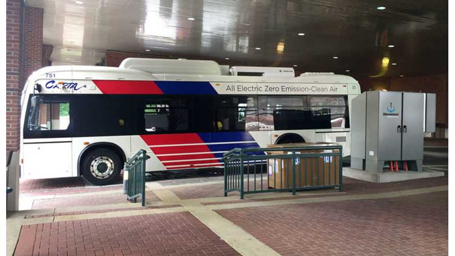 America Gets Its Second 200 kW Wireless Bus Charging System