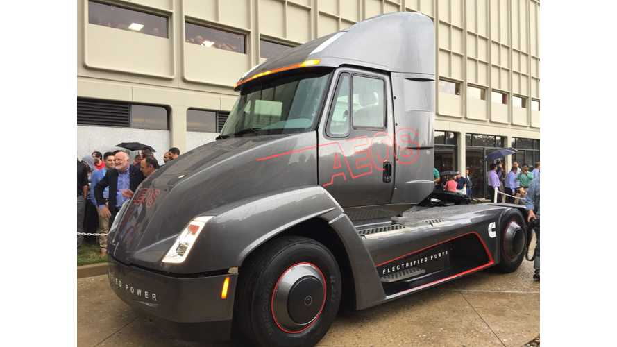 Besting Tesla's Reveal By Just Days, Cummins Unveils AEOS Electric Semi