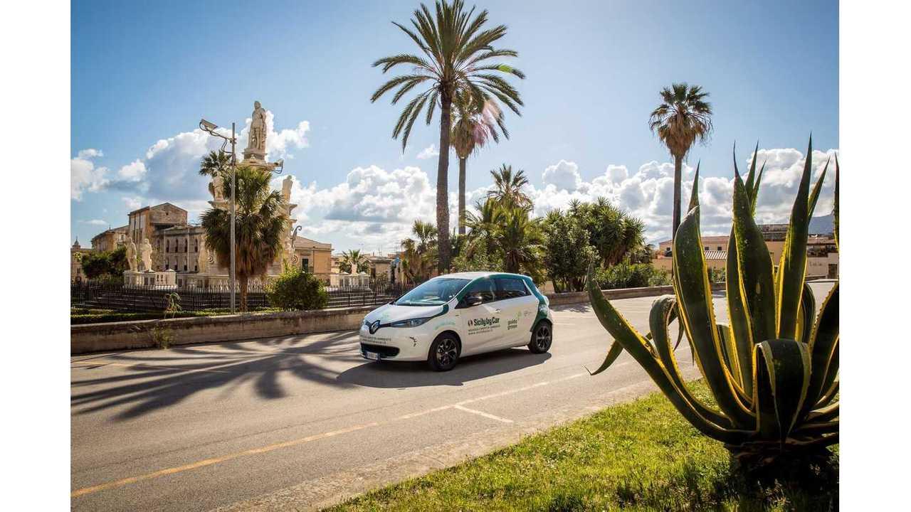 The Eco Tour di Sicilia and Renault ZOE