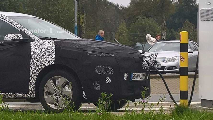 Hyundai Kona Electric Spied Recharging