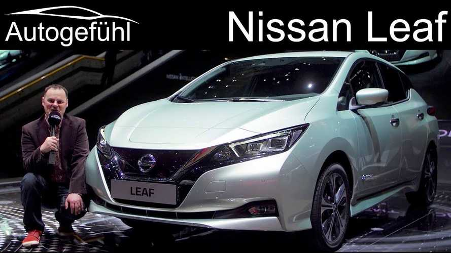 2018 Nissan LEAF Preview From Geneva - Video
