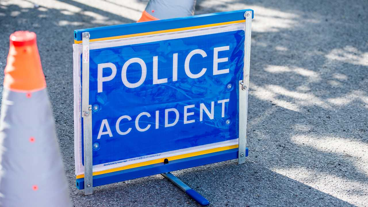 Police Accident sign on a road in Surrey UK