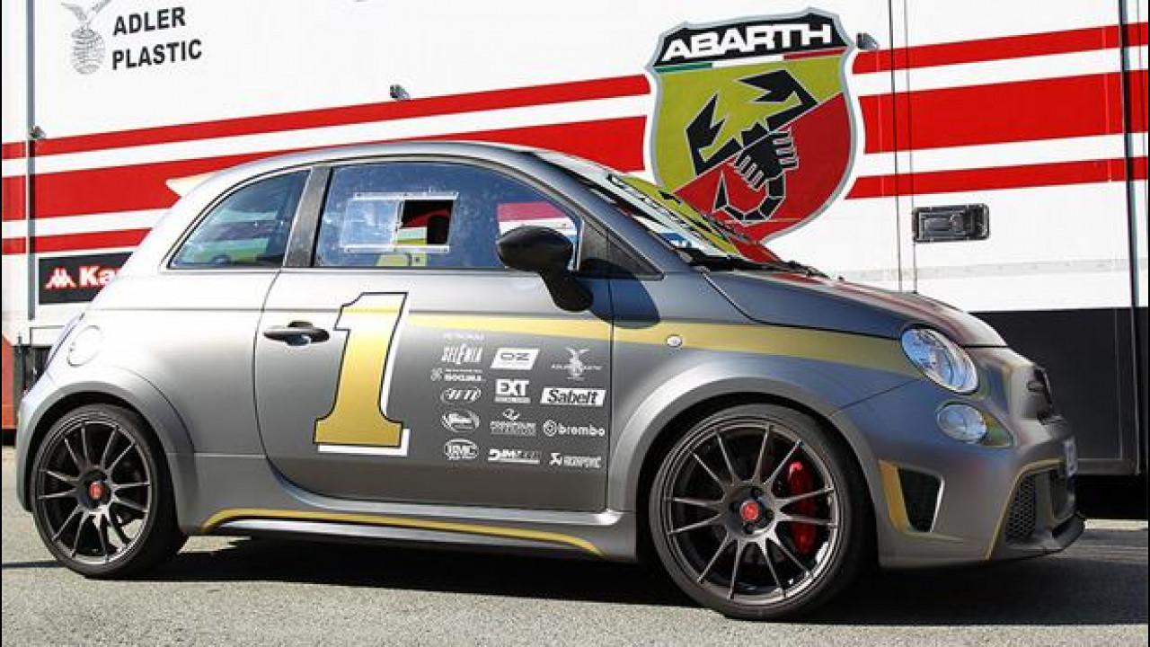 [Copertina] - Abarth 695 biposto, pronta a gareggiare a Goodwood