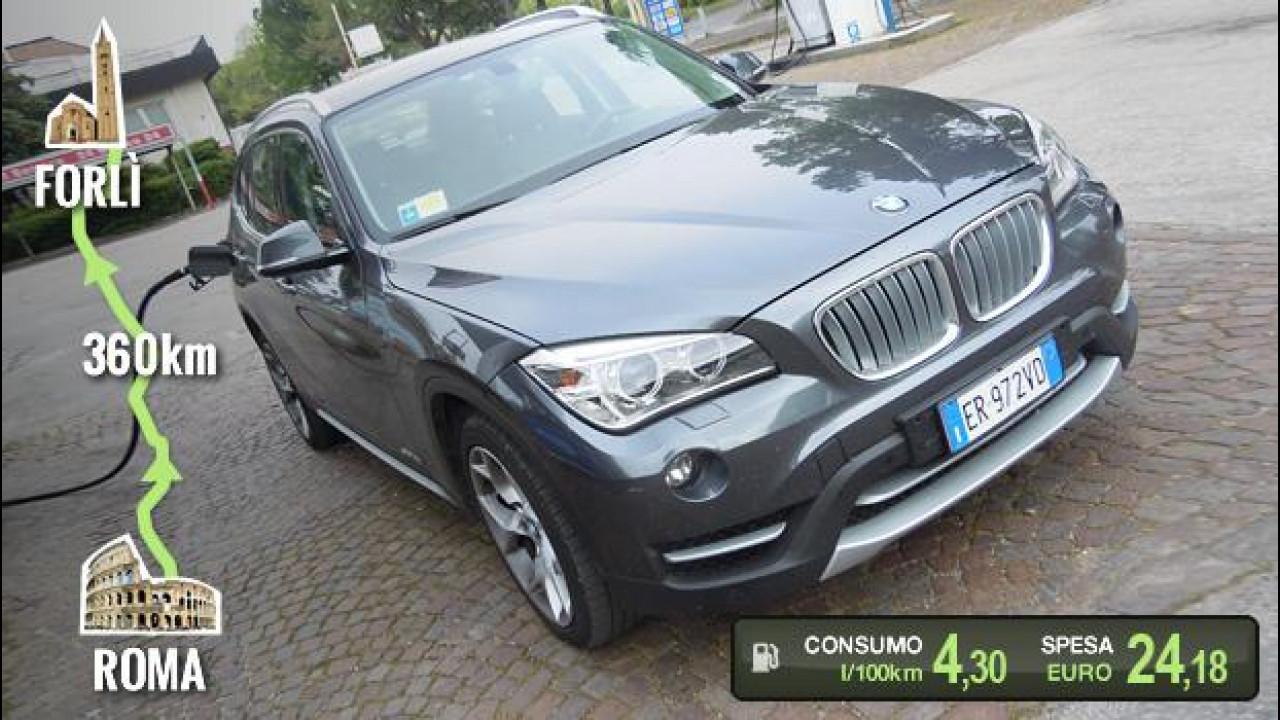 [Copertina] - BMW X1 sDrive16d, la prova dei consumi